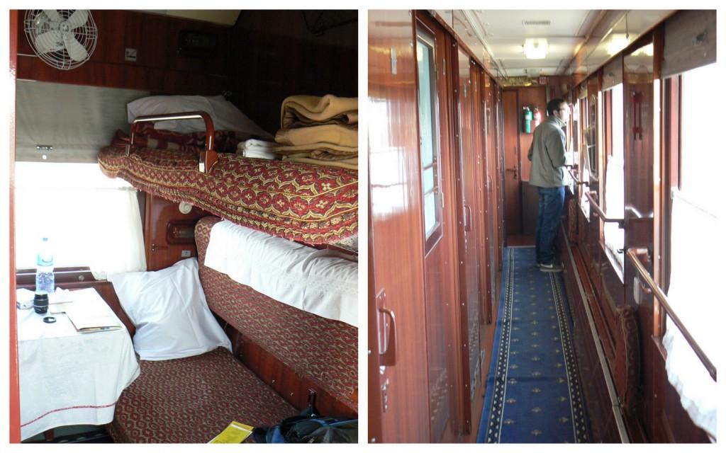 First class Trans-Siberian train