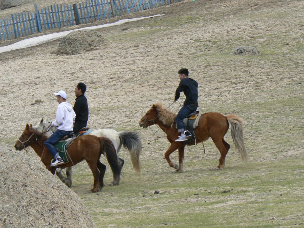 Gorkhi Terelj Mongolians on Horses