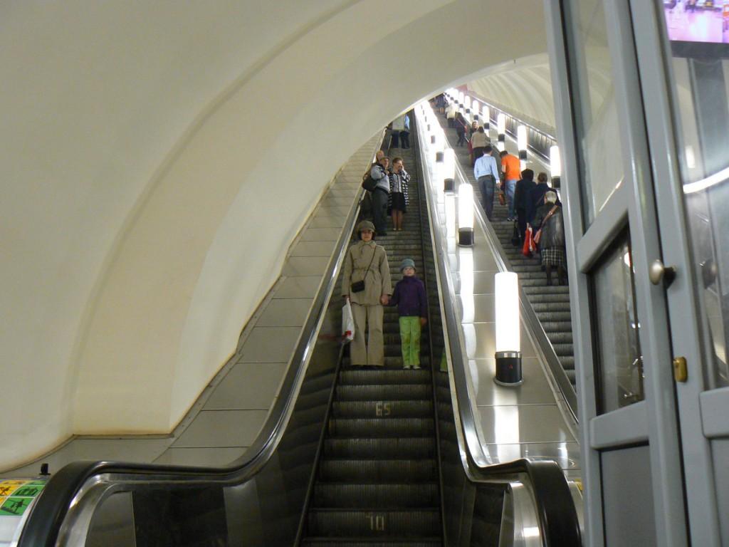 Moscow Metro Escalator