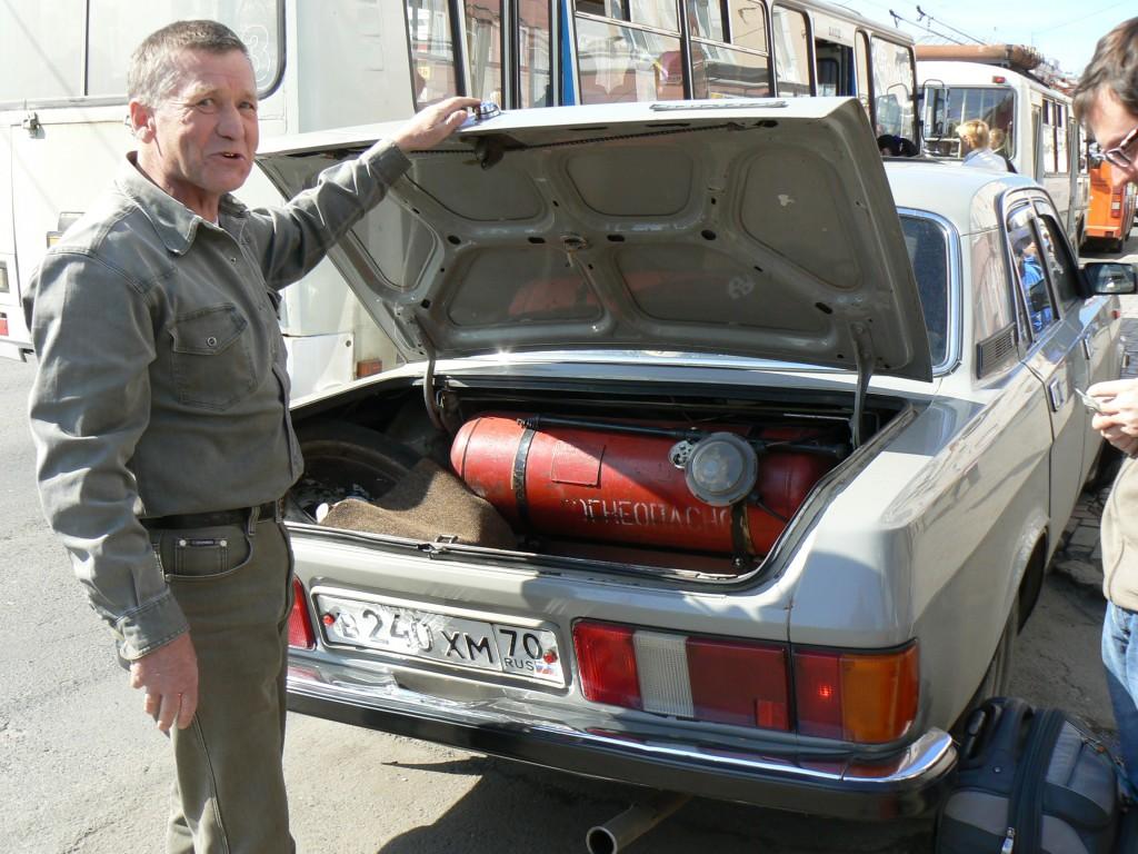 Tomsk cab driver's Volga