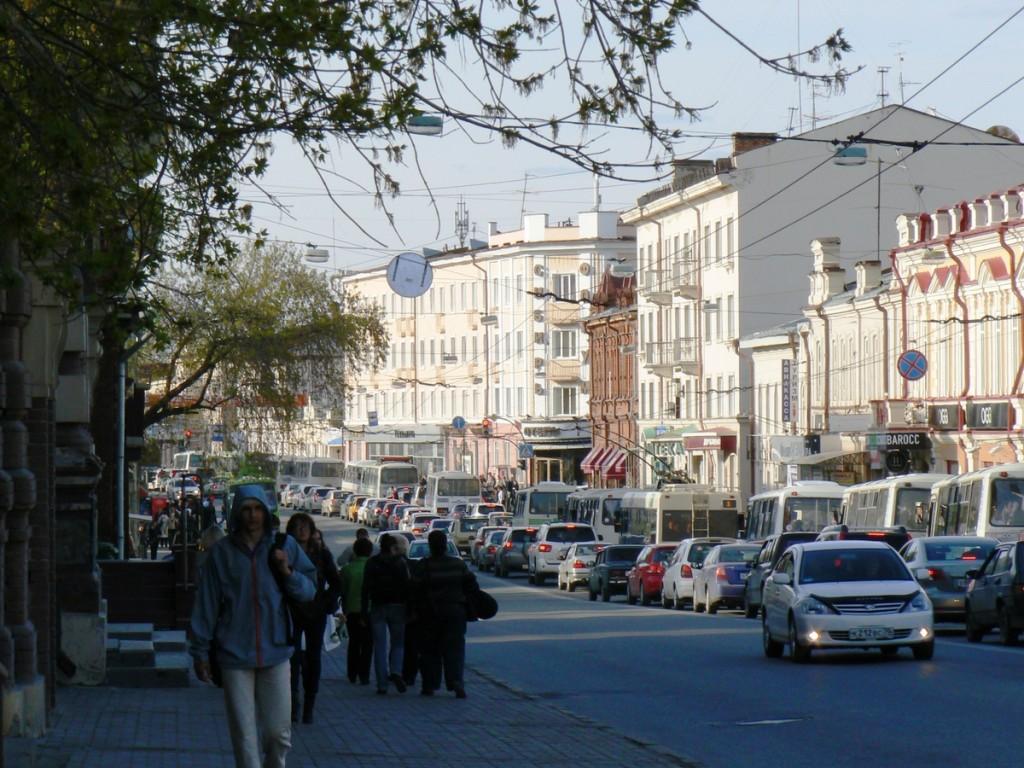 Tomsk ul Lenina near hotel