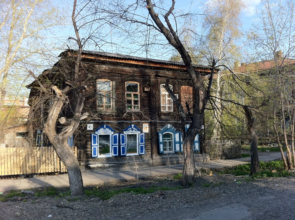 Tomsk wooden lace houses