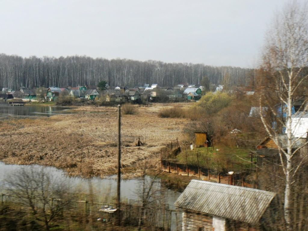 Small town past Zelenodolsk Russia