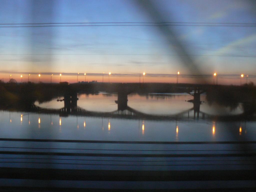 Trans-siberian train Angara River Irkutsk