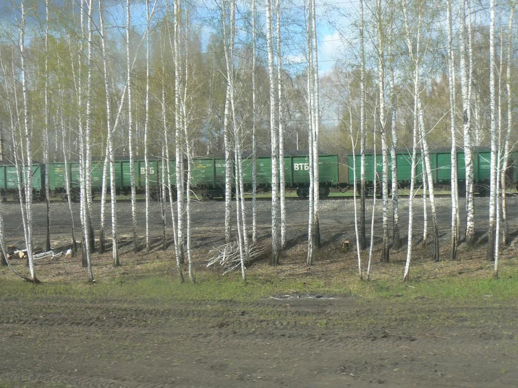 Siberia train freight traffic