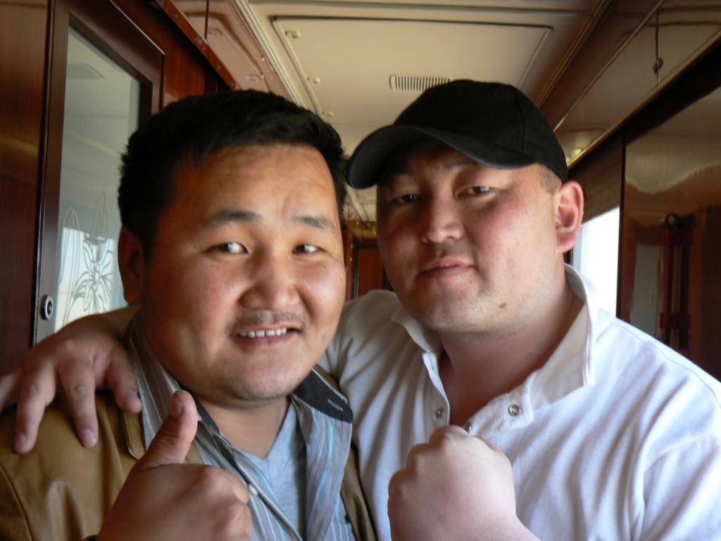 Trans-Siberian Train - Two hard drinking Mongolians