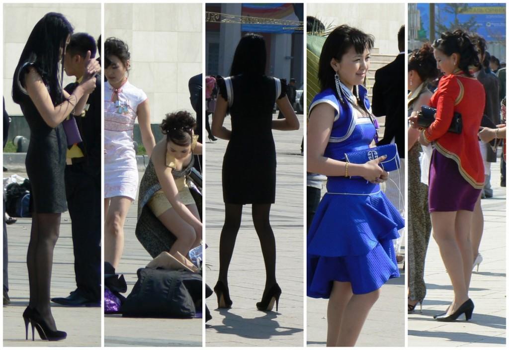 Ulaanbaatar Women on Sukhbaatar Square