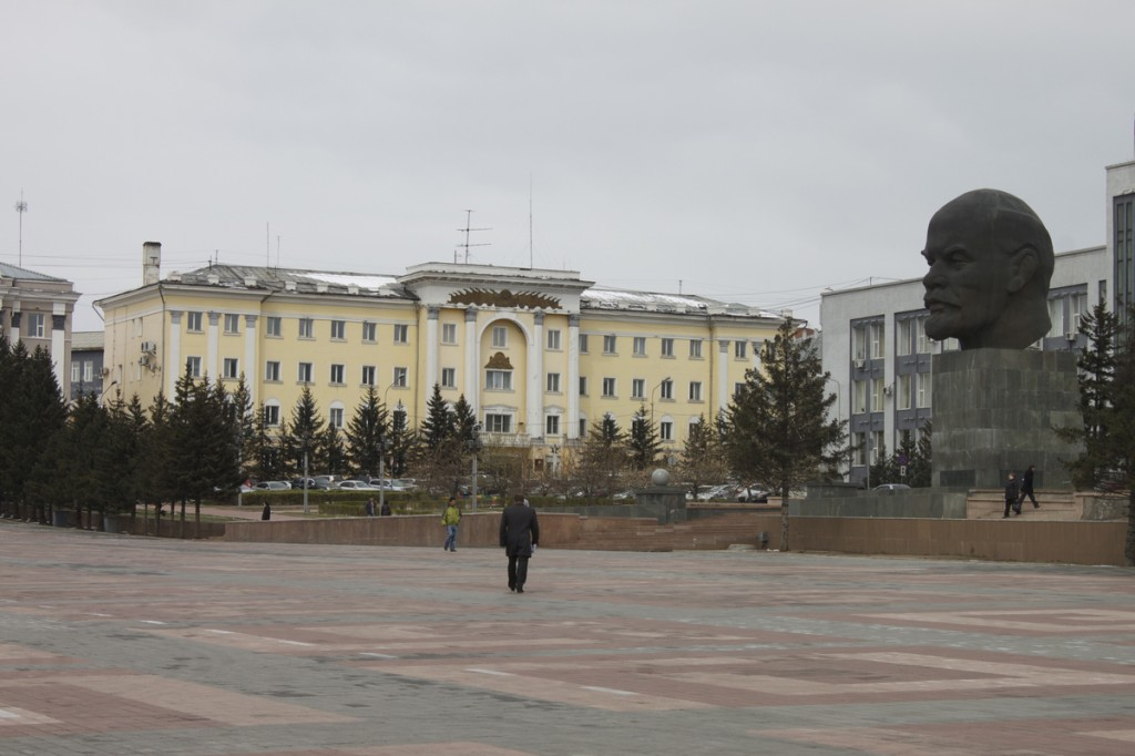 Ulan-Ude Lenin Head on Plaza Sovetov