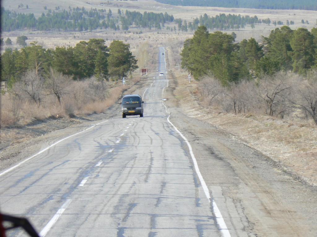 Highway A-165 near Kalinishnaya