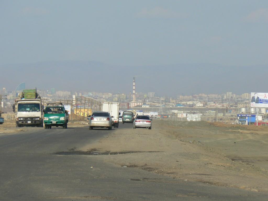 Road into Ulaanbaatar