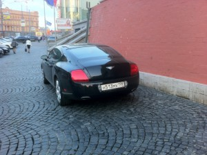 Lots of Bentleys in Moscow