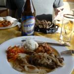 Trans-Mongolian dining car beer