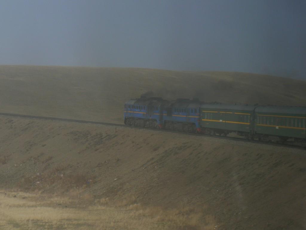 Trans-Mongolian train Gobi desert