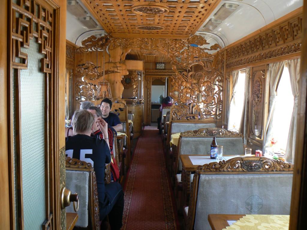 Trans-Mongolian train Dining Car