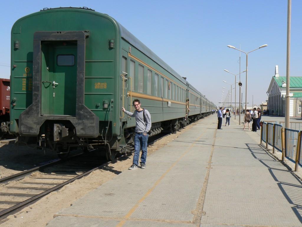 Saynshand train station Mongolia