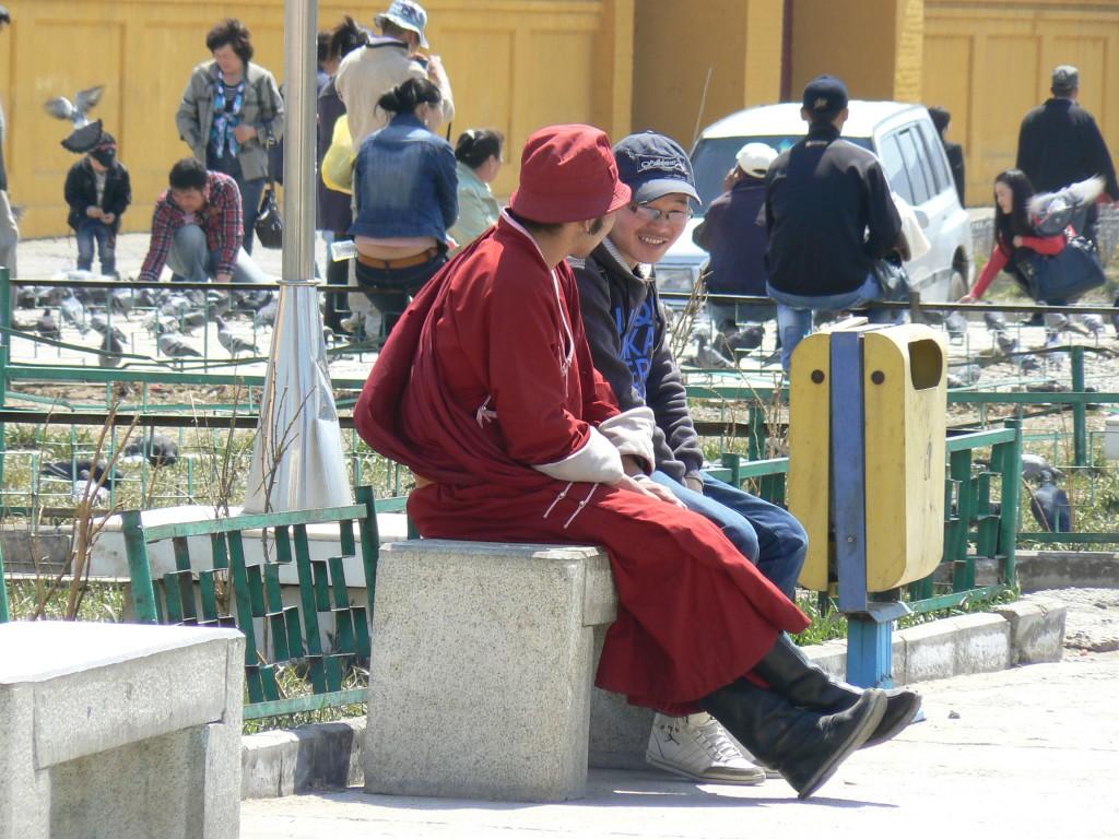 Ulaanbaatar Gandan Khiid Monastery monk